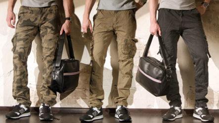 Мода в стиле «милитари»: мужские зауженные камуфляжные штаны