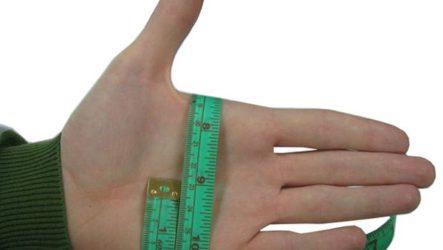 Таблицы соответствия размеров перчаток