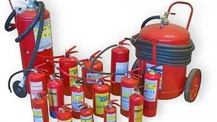 Виды огнетушителей и их назначение